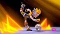 Zak intentando hacer el Fuego Sho-Sen