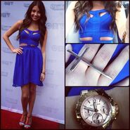 Cristine-prosperi-and-material-girl-royal-blue-cutout-dress-gallery