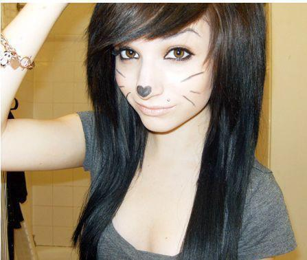 Image - Brown-eyes-brown-hair-cute-emo-girl-hair-Favim.com-16 ...