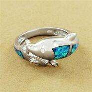 Aqua's dolphin ring