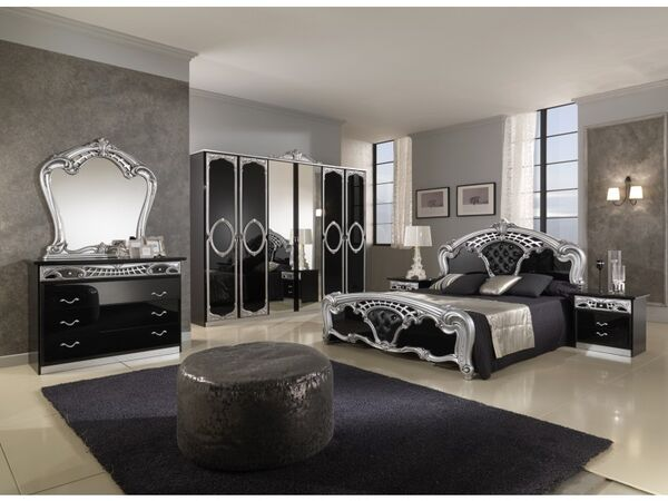 Sara-black-silver-6-door-decorations-italian-wardrobe-bedroom-set 7 1