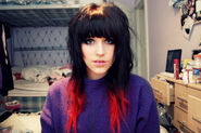Red dip dye hair by charlotte lucyy-d3a5uz1