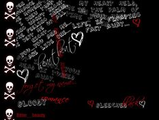 Black-rose-skulls-writings