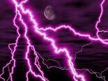 Purple night lightning storm