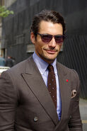 David Gandy outside Oliver Spencer show, London Collections- Men SS 2014, Day 2, 17 June 2013, Old Sorting Office, Bloomsbury, London