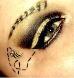Bee themed makeup