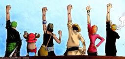 One Piece One Friendship by LadySwallow