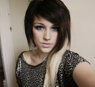 Brown with blonde dip dye by charlotte lucyy-d4cfobe
