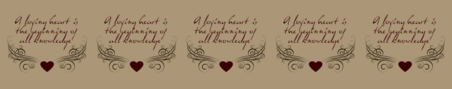 Heart knowledge theme