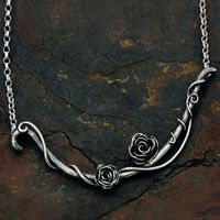 Necklace silver rose