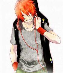 Anime guy orange hair