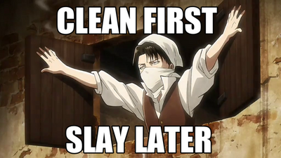 Clean-first-slay-later