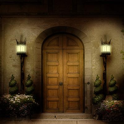 Castle door camelot night-time-s00030
