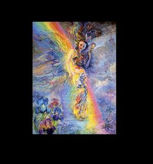 Iris, rainbow goddess