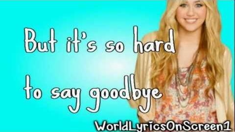Hannah Montana - I'll Always Remember You ( Lyrics Video ) HD