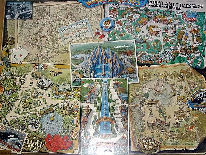 Image 1981 Park Map Jpg Canada S Wonderland Wiki