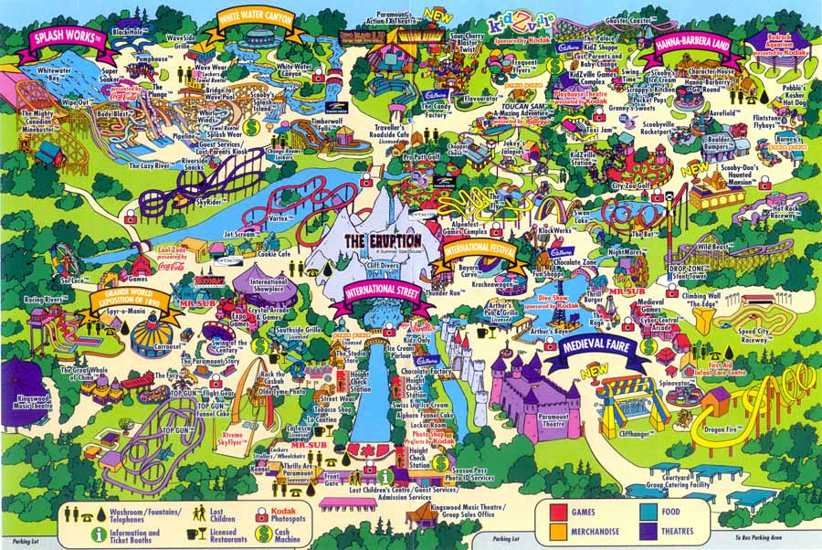 Map Of Canadas Wonderland 2017.2000 Season Canada S Wonderland Wiki Fandom Powered By Wikia