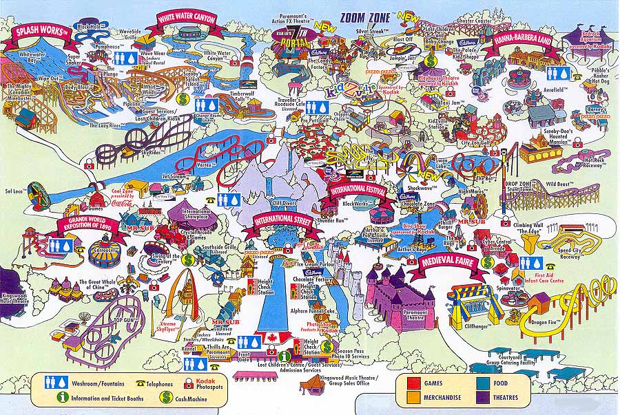 Map Of Canadas Wonderland 2017.2001 Season Canada S Wonderland Wiki Fandom Powered By Wikia