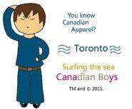 Toronto Canadian Apparel alternative poster