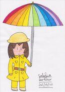 Westville rainbow umbrella (markers)
