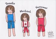 Toronto, Montreal & Vancouver swimsuits