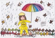 Westville dancing in autumn rain