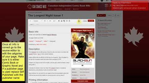 How to add a Comic to the Canadian Indie Comic Book Wiki