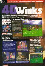40 winks N64 official magazine November 1999