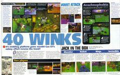40 winks N64 magazine December 1999