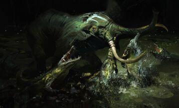 Elephants Crocodiles 441737