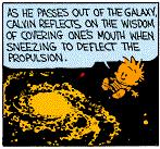 Calvin the Human Satellite