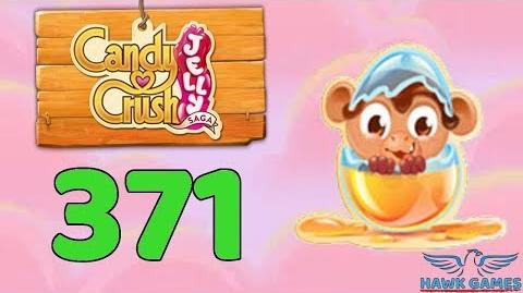 Candy Crush Jelly Saga Level 371 (Monkling mode) - 3 Stars Walkthrough, No Boosters