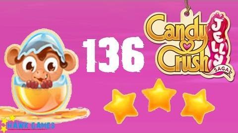 Candy Crush Jelly - 3 Stars Walkthrough Level 136 (Monkling mode)