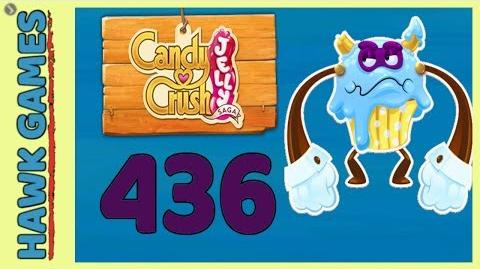 🌳 Candy Crush Jelly Saga Level 436 (Puffler Boss mode) - 3 Stars Walkthrough, No Boosters