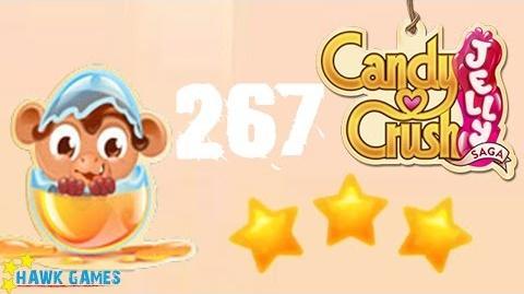 Candy Crush Jelly - 3 Stars Walkthrough Level 267 (Monkling mode)