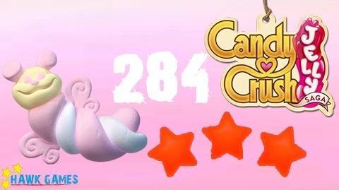 Candy Crush Jelly - 3 Stars Walkthrough Level 284 (Puffler mode)
