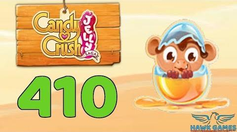Candy Crush Jelly 🍰 Saga Level 410 (Monkling mode) - 3 Stars Walkthrough, No Boosters