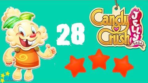 Candy Crush Jelly - 3 Stars Walkthrough Level 28 (Jelly mode)