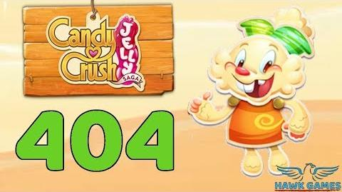 Candy Crush Jelly 🍰 Saga Level 404 (Jelly mode) - 3 Stars Walkthrough, No Boosters