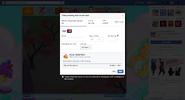 Purchase method VI opening screen Facebook