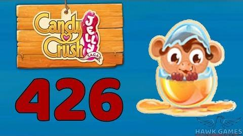 Candy Crush Jelly 🍰 Saga Level 426 Hard (Monkling mode) - 3 Stars Walkthrough, No Boosters