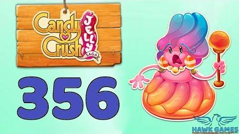 Candy Crush Jelly Saga Level 356 Super Hard (Jelly Boss mode) - 3 Stars Walkthrough, No Boosters