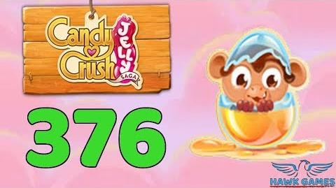 Candy Crush Jelly Saga Level 376 (Monkling mode) - 3 Stars Walkthrough, No Boosters