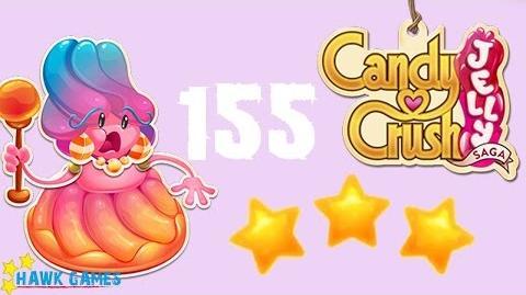 Candy Crush Jelly - 3 Stars Walkthrough Level 155 (Jelly Boss mode)