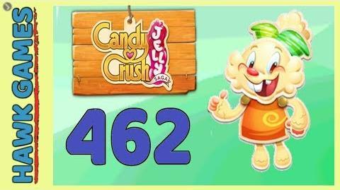 Candy Crush Jelly Saga Level 462 Super hard (Jelly mode) - 3 Stars Walkthrough, No Boosters