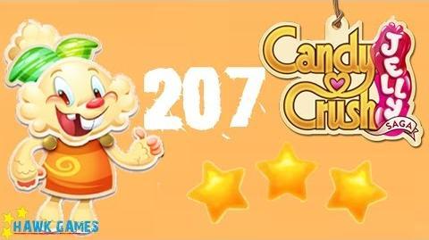 Candy Crush Jelly - 3 Stars Walkthrough Level 207 (Jelly mode)