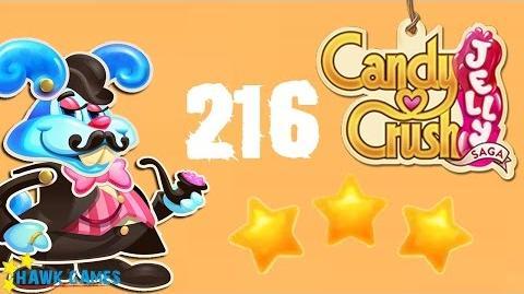 Candy Crush Jelly - 3 Stars Walkthrough Level 216 (Monkling Boss mode)