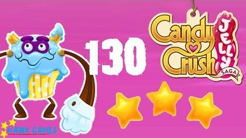 Candy Crush Jelly - 3 Stars Walkthrough Level 130 (Puffler Boss mode)
