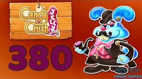 Candy Crush Jelly Saga Level 380 (Monkling Boss mode) - 3 Stars Walkthrough, No Boosters