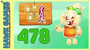 Candy Crush Jelly Saga Level 478 (Jelly mode) - 3 Stars Walkthrough, No Boosters